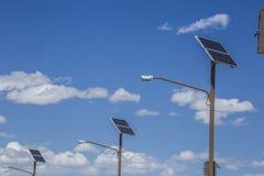 Solar panerl generating clean energy at areas. Utah, USA royalty free stock photos