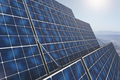 Solar panles closeup Royalty Free Stock Images