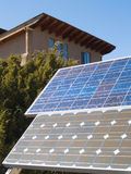 Solar panles in front of a private home Stock Images