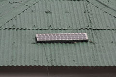 Solar pannel. On rooftop, Alternative energy Stock Photography