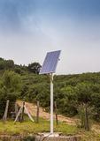 Solar pannel installation in the countryside with blue sky Stock Photography