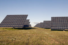 Solar pannels Amareleja, in the Alentejo, Portugal Royalty Free Stock Images