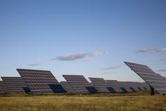 Solar pannels Amareleja, in the Alentejo, Portugal Stock Photo