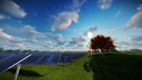 Solar pannels, timelapse clouds, tilt. Hd video stock footage