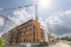 Solar para los edificios de apartamentos, Alemania Imagen de archivo libre de regalías