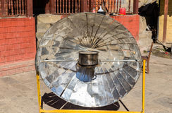 Solar parabolic heater, Himalayas, Nepal Royalty Free Stock Photography