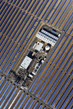 Solar parabolic power plant. Aerial view of solar parabolic power plant Stock Image