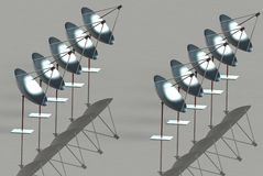 Solar parabolic reflectors Stock Photos