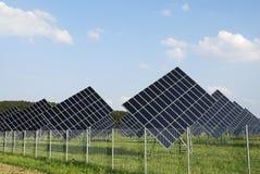 Solar park Stock Image