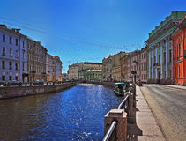 Solar patches of light in the Moika River. In St. Petersburg Royalty Free Stock Image
