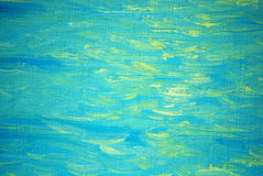 Solar patches of light on a sea wave, painting Stock Photos