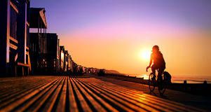 Solar path cyclist Stock Image