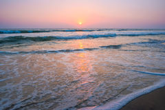 Solar a path in the Indian Ocean, India Royalty Free Stock Photos