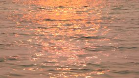 Solar path on the water. Baikal. Sunset. Solar path on the water stock video footage