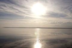 Solar Path. The solar path on the water surface of salt lake Tuz Golu Royalty Free Stock Photography