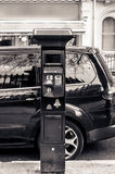 Solar pay and display car parking machine Stock Photography
