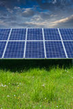 Solar photovoltaic cell panels Stock Image