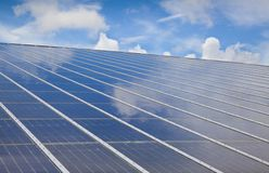 Solar photovoltaic with cloud Royalty Free Stock Images