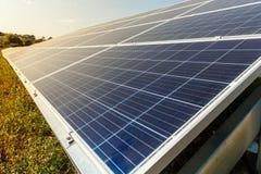 Solar photovoltaic modules using renewable solar energy. Alternative electricity concept royalty free stock photos