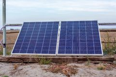 Solar photovoltaic modules using renewable solar energy. Alterna royalty free stock photography