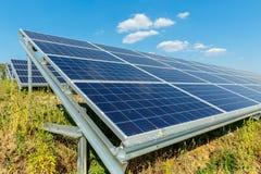 Solar photovoltaic modules using renewable solar energy. Alternative electricity concept royalty free stock image
