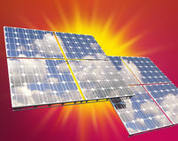 Solar photovoltaic panel Royalty Free Stock Images