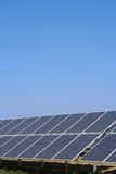 Solar photovoltaic panels. A new installation of solar photovoltaic panels stock photography