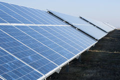 Solar photovoltaic panels Royalty Free Stock Photos