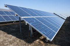 Solar photovoltaic panels Royalty Free Stock Images