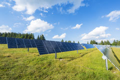 Solar photovoltaic panels power station Stock Photography