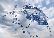 Solar photovoltaic umbrella Stock Image