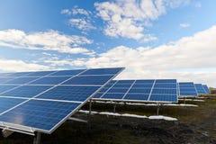 Solar photovoltaics panels Stock Photos