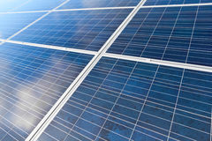 Solar photovoltaics panels Royalty Free Stock Photos