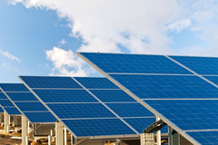 Solar photovoltaics panels Royalty Free Stock Images