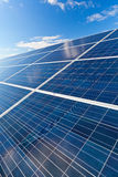 Solar photovoltaics panels Stock Image