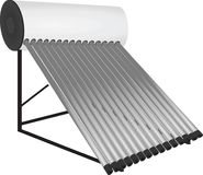 Solar pipes heater Stock Image
