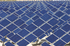 Solar plant Royalty Free Stock Photo