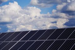 Solar plant Royalty Free Stock Images