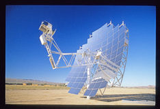 Solar Plant Construction in California Mojave Desert Royalty Free Stock Photos