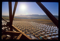 Solar Plant Construction in California Mojave Desert Royalty Free Stock Images