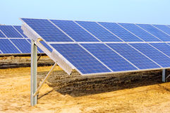 Solar plant on field Stock Images