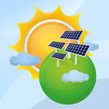 Solar plant Stock Images