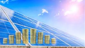 Solar plant royalty free stock photos
