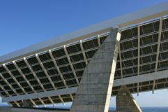 Solar Plant in Port Forum Barcelona Stock Photos