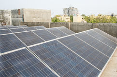 Solar Plant. Rooftop Solar Plant in India Stock Photography