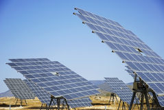 Solar plant in spain Royalty Free Stock Photo