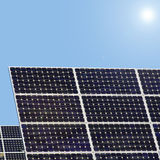 Solar plants. Solar panels to generate electricity Royalty Free Stock Images
