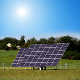 Solar plants in the field Royalty Free Stock Photography