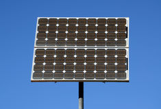 Solar plate. Against blue sky royalty free stock photography