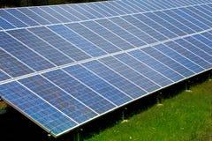 Solar plates for green sun energy Royalty Free Stock Photo